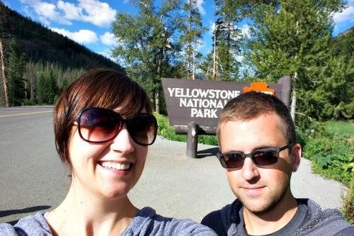 Yellowstone National Park entrance