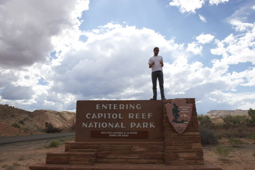 Mark at Capitol Reef National Park
