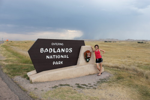Christy entering badlands