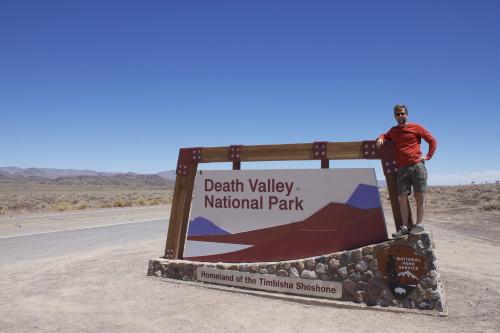 Death Valley Entrance mark