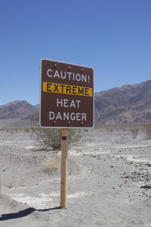 Extreme heat in Death Valley