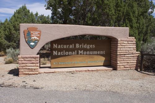 Natural Bridges sign