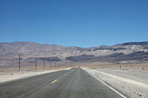 drive into Death Valley
