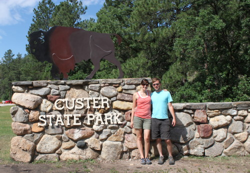 enter custer state park