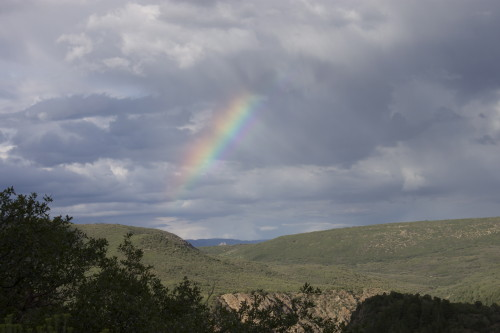 rainbow in Black Canyon of the Gunnison