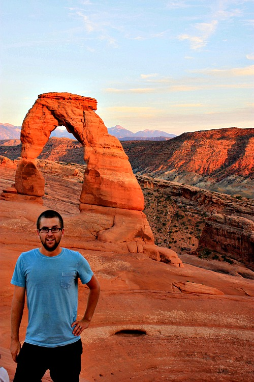 mark at delicate arch