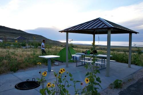 campsite in Antelope Island