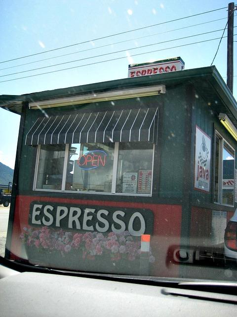 Coffee huts in Montana