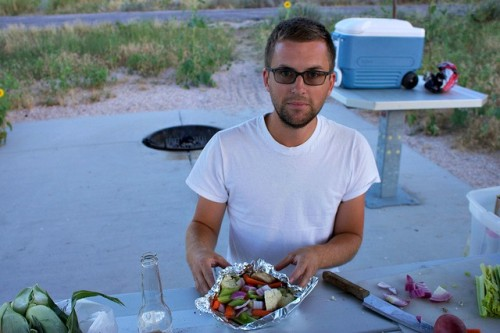 dinner at Antelope Island State Park