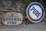 Antique archaeology signs