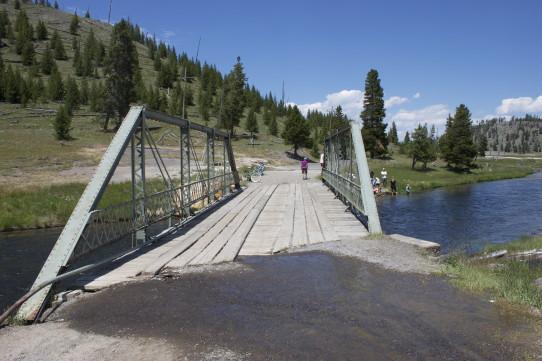 Bridge over firehole river
