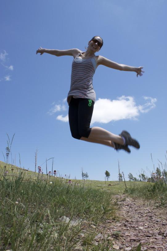 christy jumps high