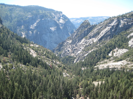 Top of Nevada Fall view