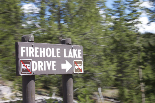 Firehole Lake Drive Sign