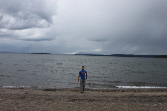 Mark at Yellowstone Lake