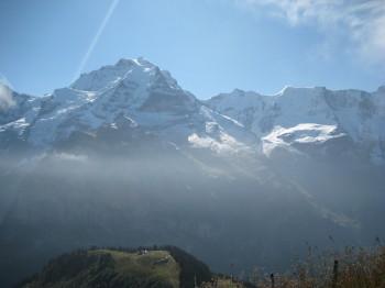 Swiss Alp peaks